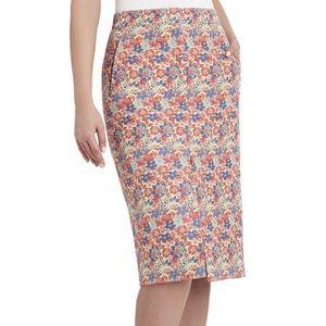 BCBG Maxazria Liya Floral Pencil Skirt Sz Medium